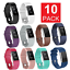 10-Pcs-Replacement-Silicone-Wristband-For-Fitbit-Charge-2-Band-Fitness-Size-L-US thumbnail 1