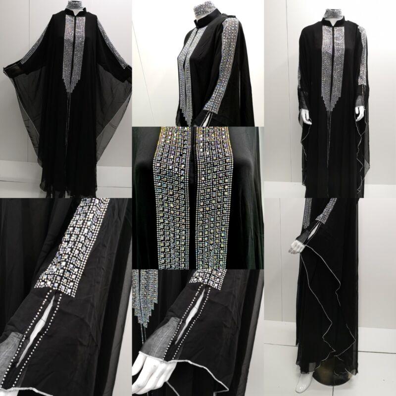 Mujeres Vestido Abaya. Frente Abierto. Abaya Japonés Neda/lino Saudí. Nueva Llegada 2018