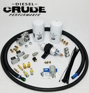 94 97 Obs Ford 7 3l Powerstroke Efuel Electric Pump Add On Kit Ebay