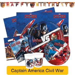 Marvel Captain America Civil War Birthday Party Range Tableware