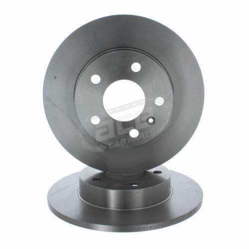 Vauxhall Zafira B Mk2 MPV 2005-2015 Rear Solid Brake Discs Set 264mm 5 Stud