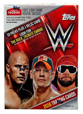 2016 Topps WWE Wrestling Blaster Box 10 packs plus 1 relic card 70 cards New