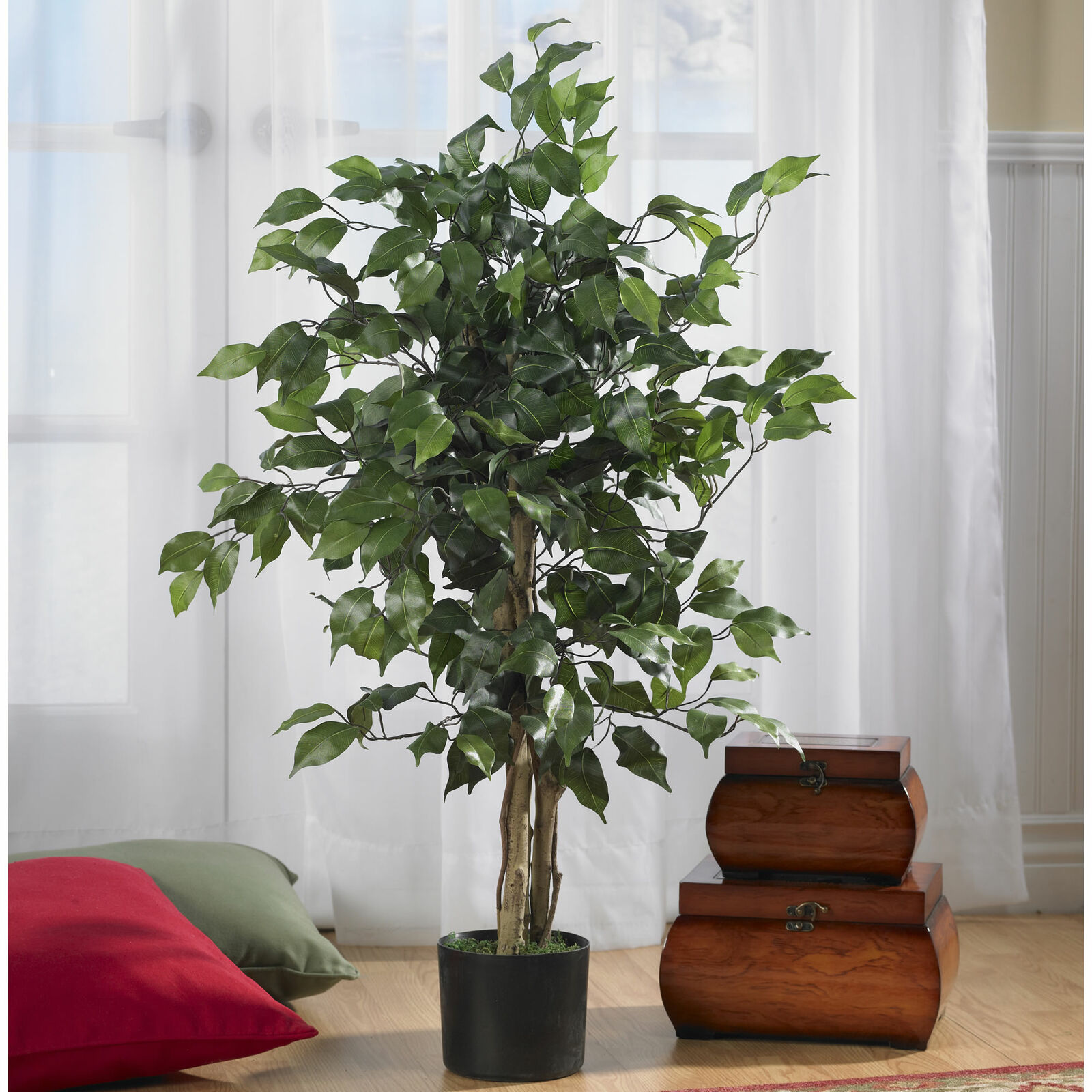 Artificial Potted Cypress Eucalyptus Plant Tree Home Decor Indoor Outdoor Garden For Sale Online Ebay