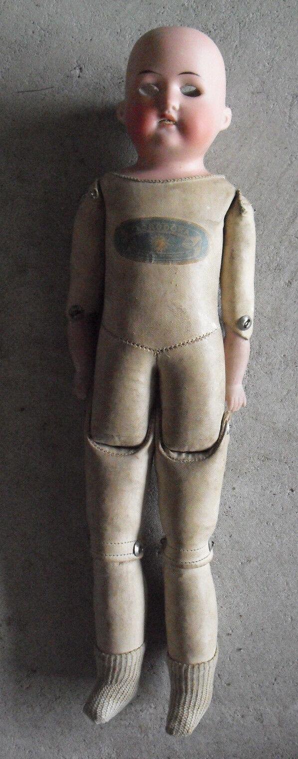 Vintage AM Florodora Germany 275 11/0 Bisque Kid Pelle  Girl Doll 14  Tall