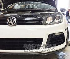Real Carbon Fiber Black Chin Spoiler Fit For VW Golf 6 VI MK6 R20 Bumper V032