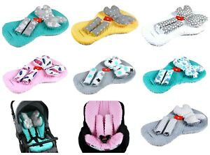 3-pc-Stroller-Buggy-Car-seat-Pushchair-Liner-Mat-Pillow-Belts-Covers