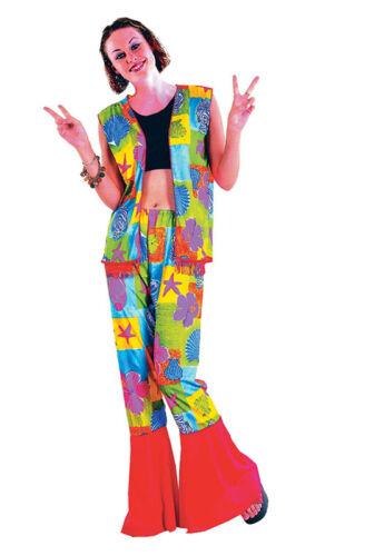 #hippy Hippie Flower Power Années 60 robe fantaisie fille costume adulte taille unique