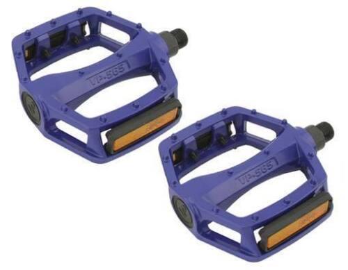 "BMX FIXIE PLATFORM PEDALS VP Alloy Pedals 1//2/"" BLUE with reflectors"