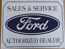 "Ford Logo Authorized Dealer Metal Tin Sign 16/"" x 10.5/"" #580"
