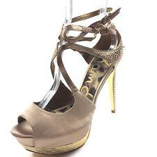 712298a476069e item 4 Sam Edelman Pryce Champagne Satin Platform Heel Sandals Women s Size  9.5 M  -Sam Edelman Pryce Champagne Satin Platform Heel Sandals Women s  Size 9.5 ...