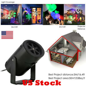 Image Is Loading Usa Moving Snowflake Laser Projector Lamps Led Stage