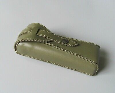 Green County Engraving Faux Leather Glasses Spectacles Case