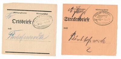 2 Verschiedene Bahnpoststempel 1933/34 Dresden Berlin