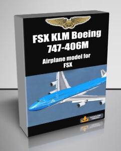 Details about FSX KLM Boeing 747-406M addon for FSX - Digital Download