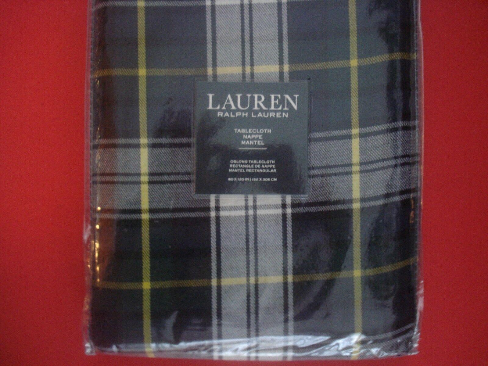 Ralph Lauren Holiday tableloth Middlebrook Tartan Plaid 60 x 120 NEUF