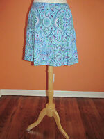 Tehama Outdoor Size S Blue Print Tiered Active Skirt Coverup