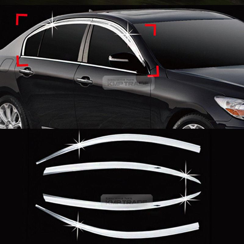 ClimAir CL 3743 Window Visors Compatible with Hyundai i40 Sedan//SW 2011- Grey