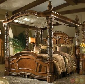 Image Is Loading Villa Valencia Luxury King Poster Canopy Bed W