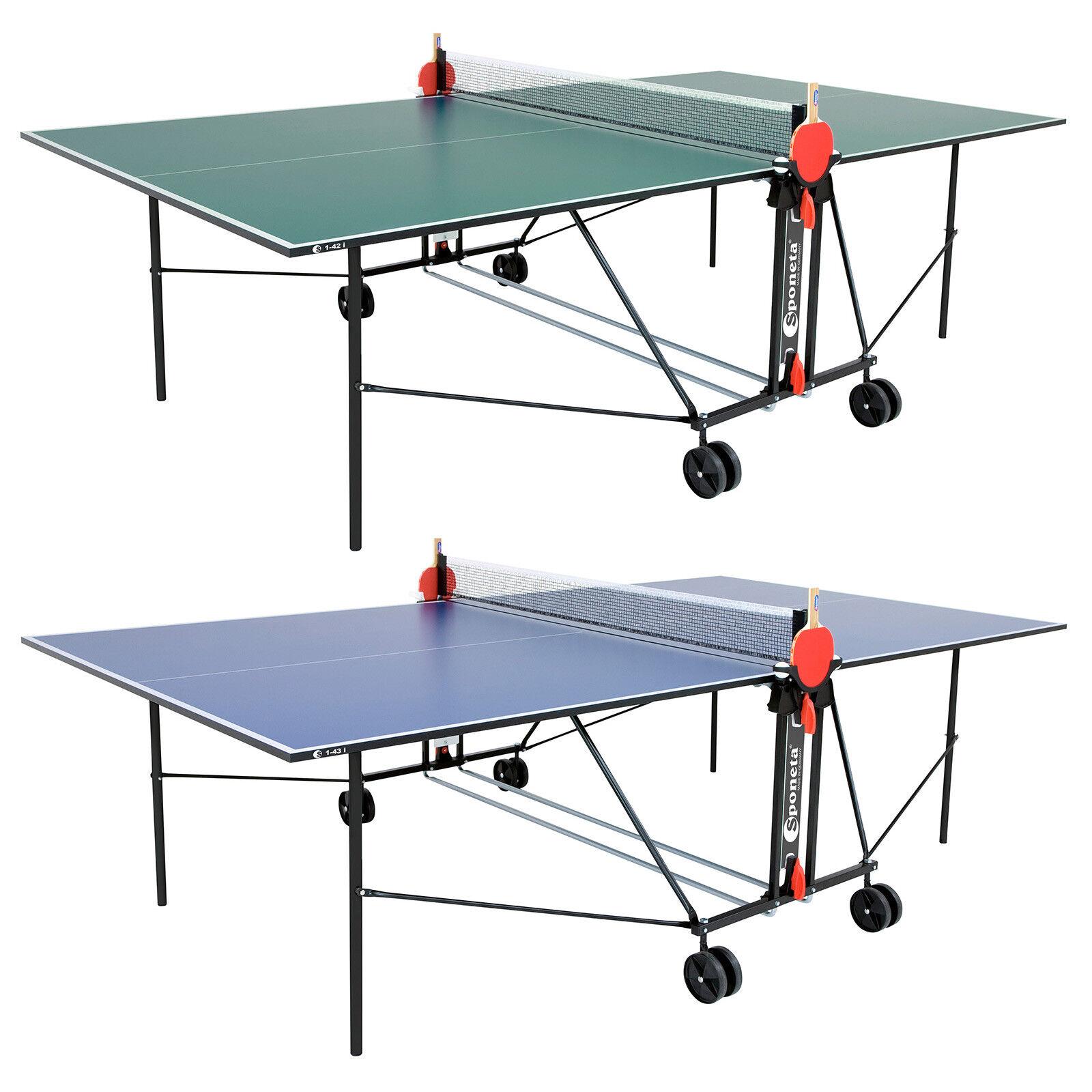 Sponeta S1-42i S1-43i - Tischtennisplatte Indoor  | Clever und praktisch  | New Style  | Qualität und Quantität garantiert