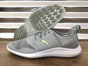 Details about PUMA Ignite NXT Lace Spikeless Golf Shoes High Rise Gold Gray SZ 9 (192225 03)
