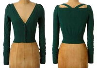 Anthropologie Kimmel Cardigan Xsmall 0 2 Green Sweater Dress Topper Moth Xs