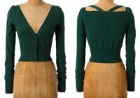 Anthropologie Kimmel Cardigan Xsmall 0 2 Green Sweater Dress Topper Moth Xs