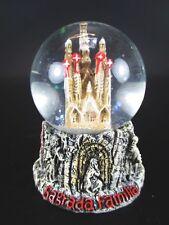 SFERA NEVE BARCELLONA Sagrada Mühlelsen Snowglobe 6 cm WATERGLOBE, souvenir Spagna