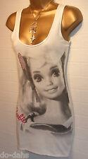 BNWT JANE NORMAN BARBIE DOLL 50th Anniversary White Vintage Diamante Top Size 8