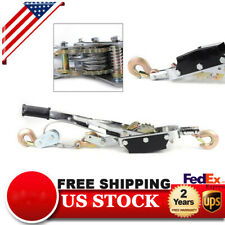 5 Ton Hand Puller Heavy Duty Winch Pull Hoist Come Along Cable 3 Hooks 2 Gears