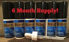 Mens Rogaine Topical Solution ExtraStrength 6 Month Supply Bottles+Dropper 10/18