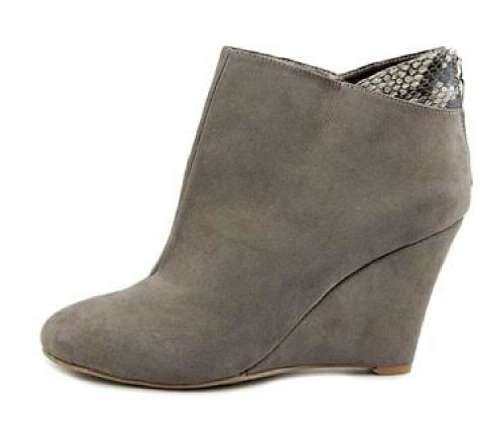 New Women's Thalia Sodi Booties, Wedges,  Size 6.5, Light Grey, Zipper