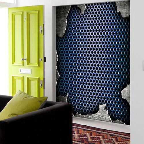3D bluee Bee Holes 885 Wall Paper Murals Wall Print Wall Wallpaper Mural AU Kyra
