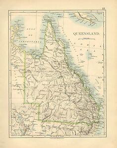 Map Of Australia Cape York Peninsula.Details About 1892 Victorian Map Australia Queensland Cape York Peninsula
