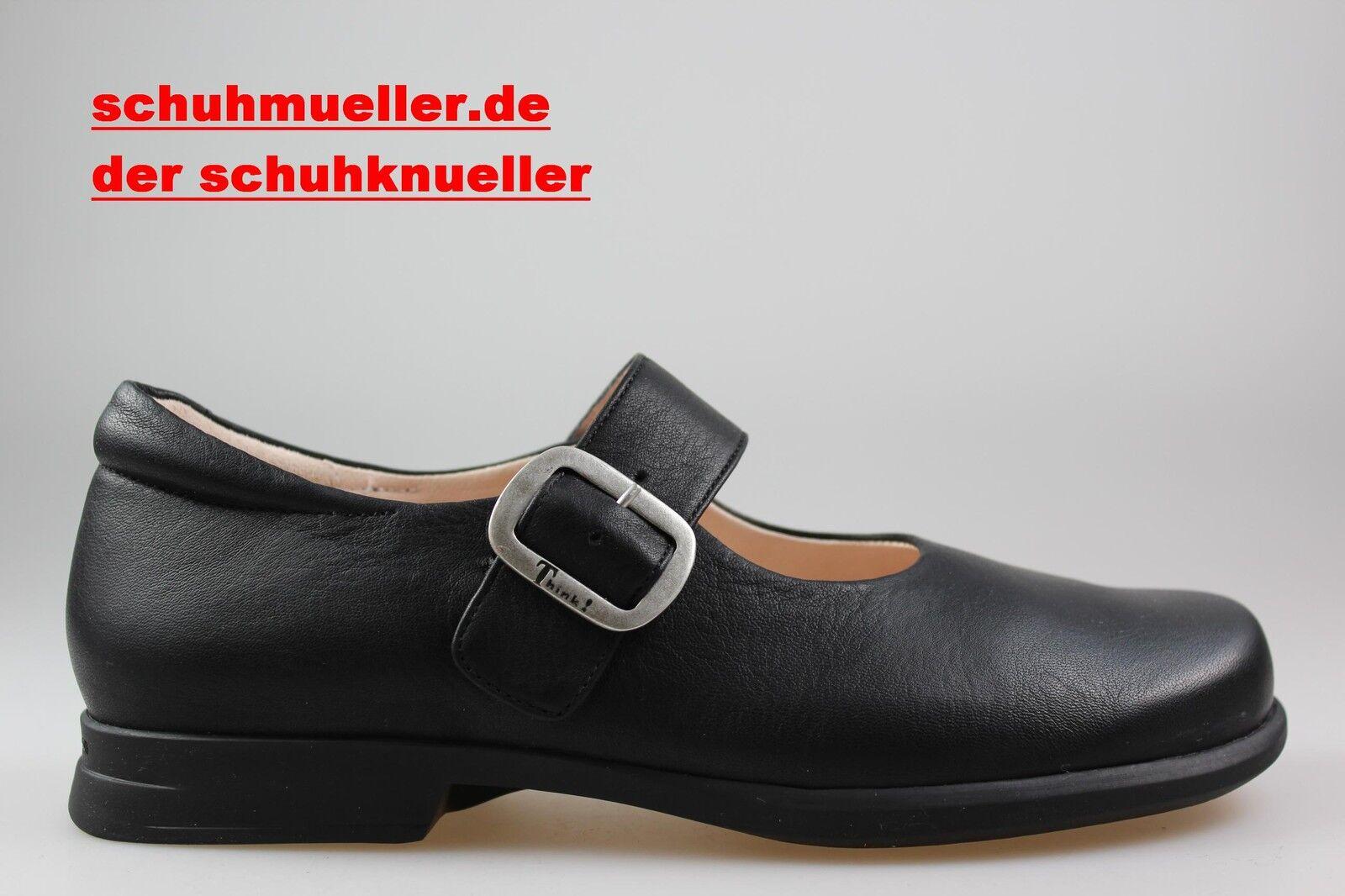 Think  Spangen Ballerina Slipper, Pensa,  83001-00, schwarz