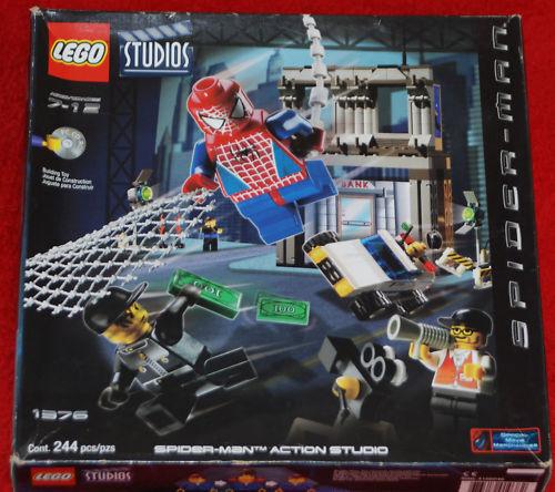 LEGO SPIDERMAN SET 1376 SPIDER -MAN AKTIONSSTUDIER W   CD NISB RÖRIE Lot