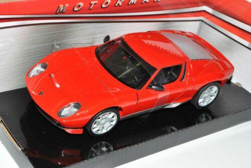 Lamborghini Miura Concept Coupe Rot 2006 1//24 Motormax Modell Auto mit oder ohne