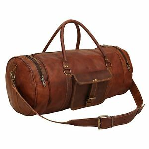 Image Is Loading Travel Bag Men 039 S Brown Leather Retro