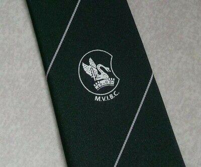 Amabile Vintage Cravatta Da Uomo Cravatta Crested Club Associazione Società Mvibc Verde-mostra Il Titolo Originale Promuovi La Produzione Di Fluidi Corporei E Saliva
