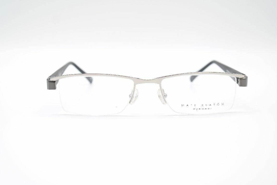 Matt Keaton MK 809 Col. 004 53[]18 140 Schwarz Silber halbrand Brille Neu