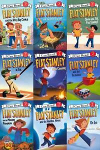 Flat-Stanley-Series-by-Jeff-Brown-LEVEL-2-READERS-Collection-9-Book-Set