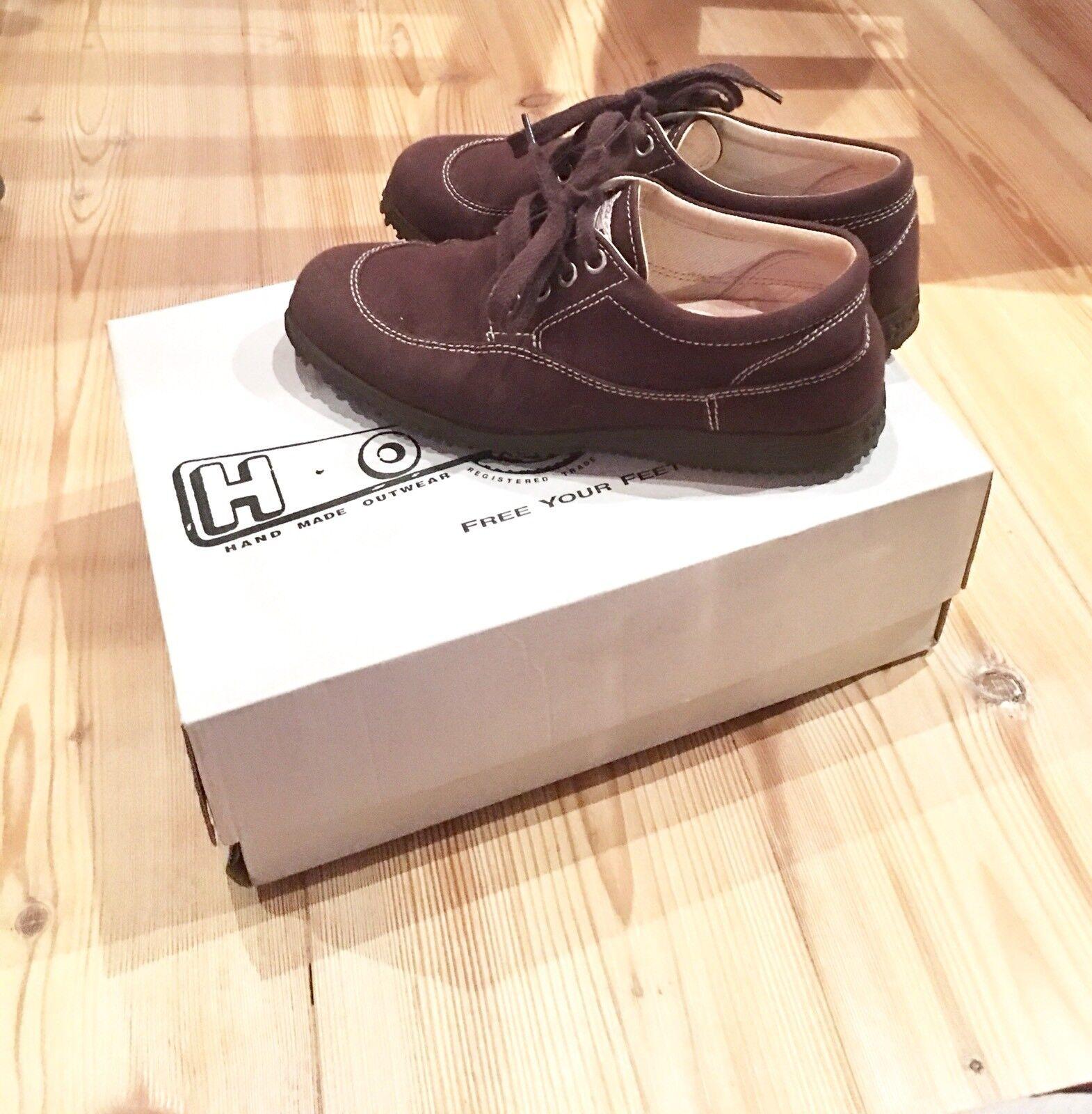 scarpe hogan donna tela marrone scuro n. 35