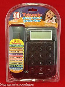 Black-Wall-Desk-Corded-HOME-TELEPHONE-Landline-w-LCD-Caller-ID-amp-Flashing-Ringer