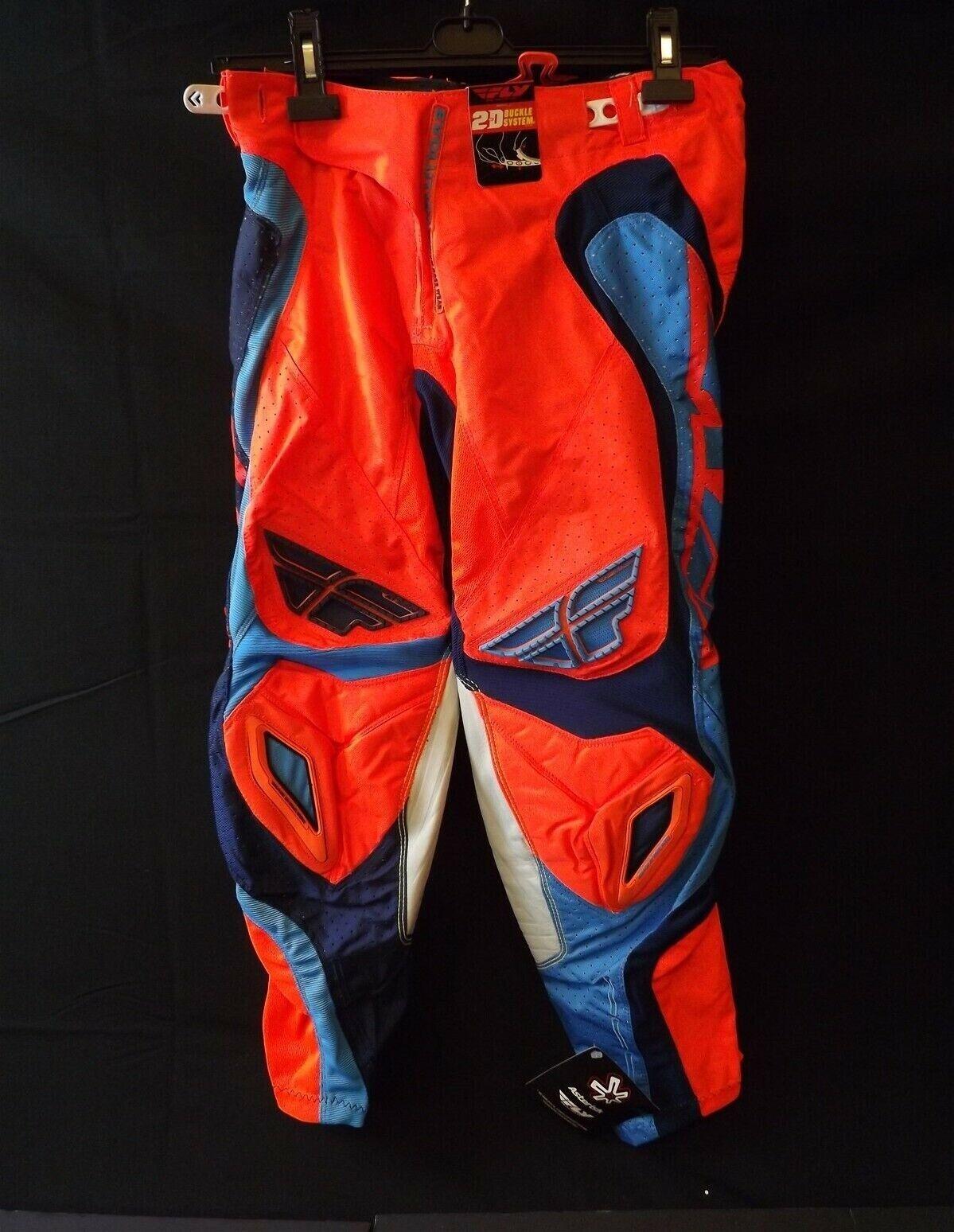 NEW FLY RACING EVOLUTION Motocross BMX Race Pants orange &  bluee MEN'S Size 28  the latest models