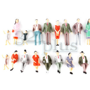 100 pcs. 1/32 Scale Figures Scale Model Supplies Plastic Live Steam 1:32 People