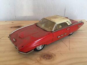 Ford-Thunderbird-Rot-Schwarz-Blech-Spielzeug