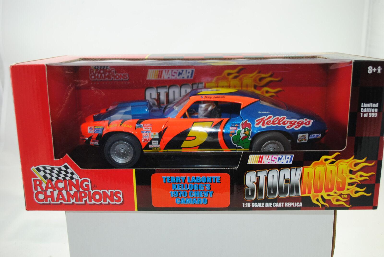 1 18 Ertl Racing Champions 1970 Chevy Camaro Terry Labonte Lmtd.edt. Nuevo