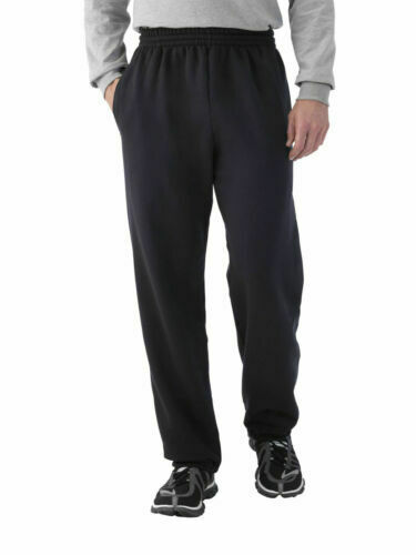 Fruit Of The Loom Fleece Elastic Eversoft Sweat Pant Men's BLACK Medium (NEW)