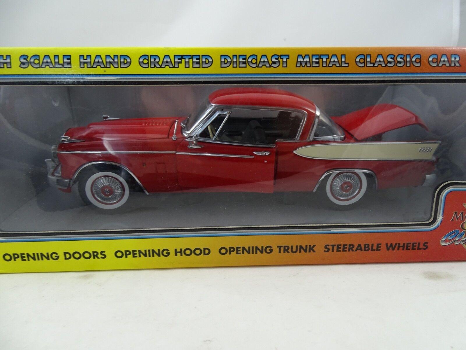1 18 Motor City Classics  80009 1957 Studebaker oro Hawk Apache Rosso - Rarità