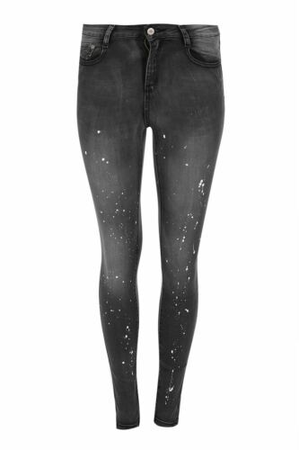 Da Donna con effetto invecchiato destroyed RIP Ricamo Stretch Skinny Fit Denim Jeans