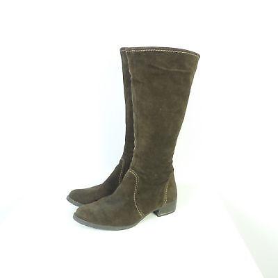 TAMARIS Stiefel Boots Veloursleder Braun Gr. EUR 39 (K161